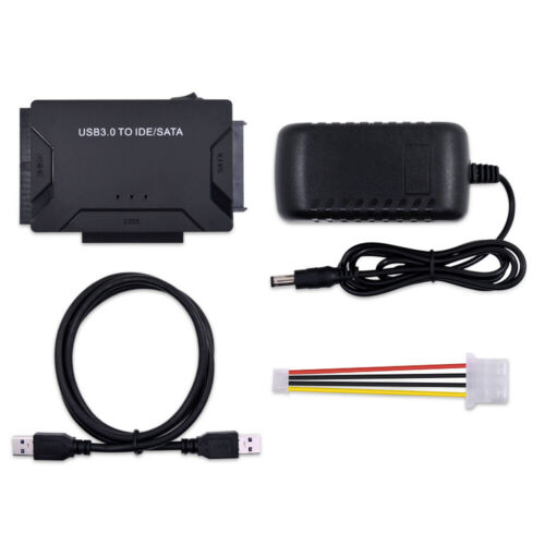 "USB 3.0 to IDE /& SATA Converter External Hard Drive Adapter Kit 2.5/""//3.5/"" Cable"