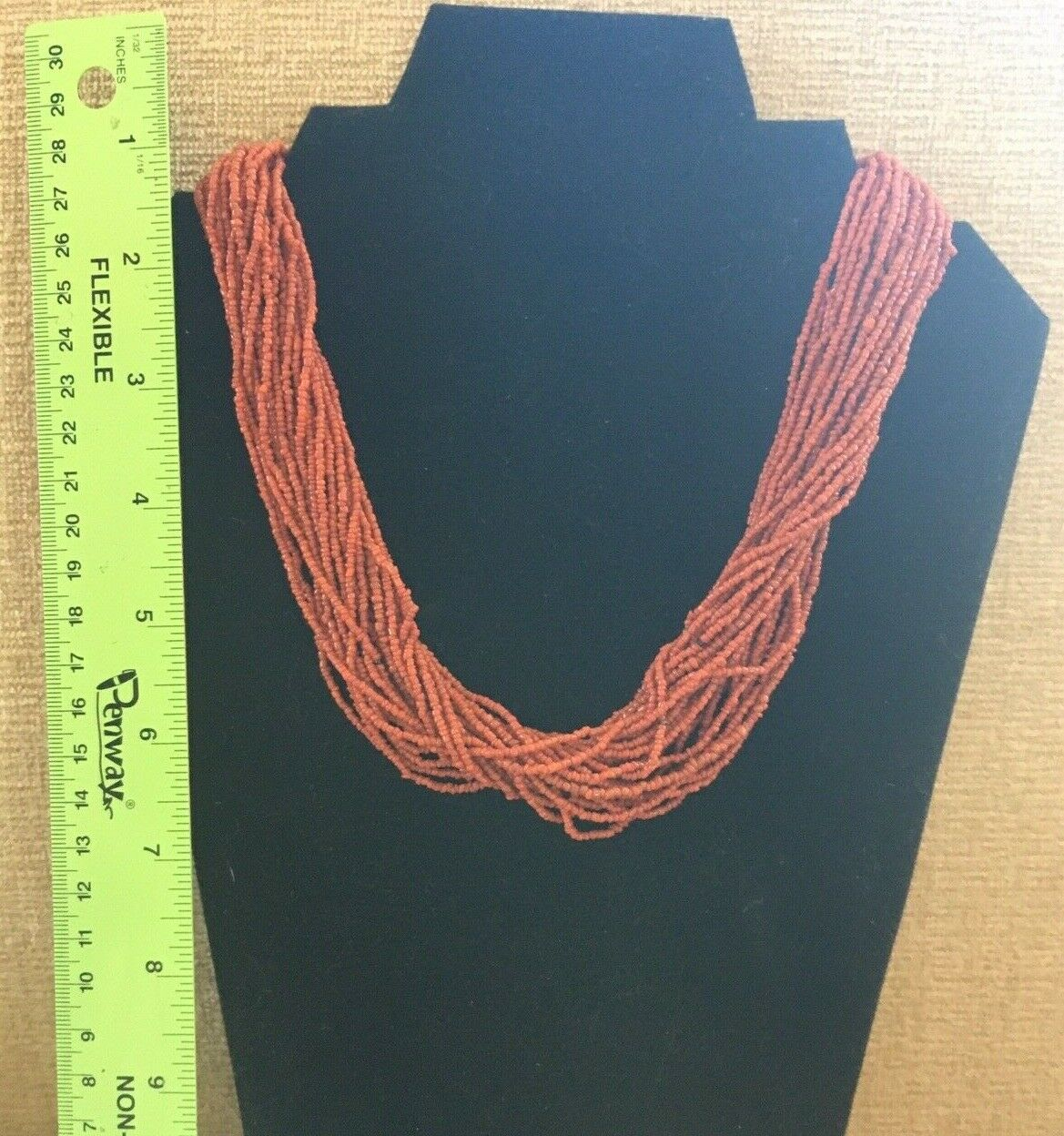 19 Inch Rustic Red Bamboo Coral and Black Onyx Necklace with Earrings