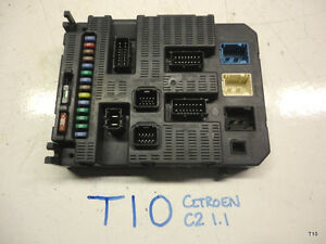 citroen c2 1 1 fuse box auto electrical wiring diagram \u2022  citroen c2 1 1 bsi fuse box 96 637 983 80 used part t10 ebay rh ebay co uk citroen 2cv citroen c3