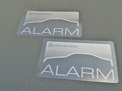 2 Mercedes-Benz ALARM sticker R107 W126 W201 W124 R129 burglary alarm system