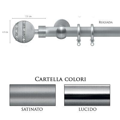 Scorritenda Bastone Per Tenda Alluminio Strappo Corda Con Anelli Rugiada Vami