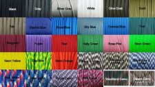 550 Paracord Type III, 1' - 100', USA Made, E.L. Wood Braiding Co, High Quality!