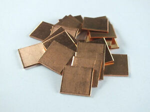 10pcs-Laptop-GPU-CPU-Heatsink-Thermal-Pad-Copper-Pad-Copper-Shim-15-15-1-0mm