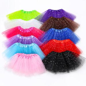Girls-Kids-Sparkly-Sequin-Ballet-Tutu-Party-Fancy-Dress-Dance-Skirts-2-8-Years