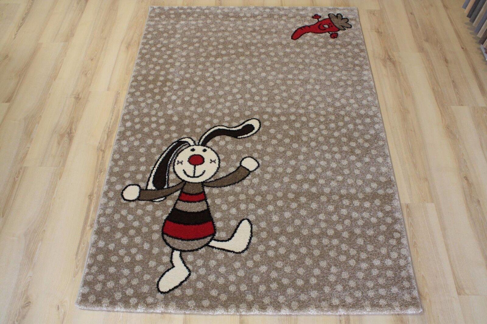 Tapis pour Enfants de Jeu Sigikid SK-0523-04 Rainbow Rabbit 160x225 cm Beige