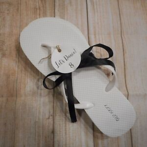 085b54c4a OLD NAVY Sz 8 White Wedding Bride Bridesmaid Dance Flip Flops