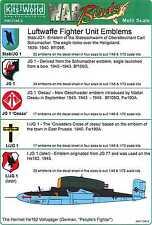 Kits World Decals 1/72 & 1/48 LUFTWAFFE FIGHTER UNIT EMBLEMS Part 1