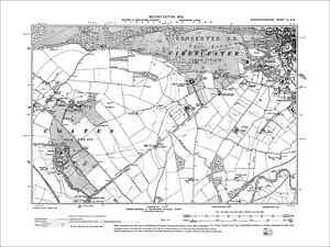 Cirencester-SW-Coates-Old-Map-Gloucestershire-1903-51SW