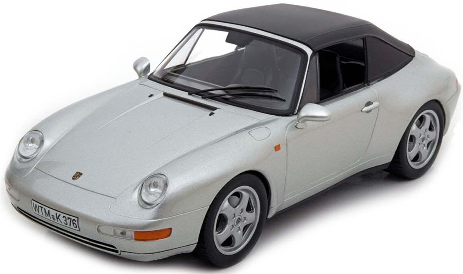 Norev 187592 Porsche 911 carrera cabriolet 1993 argento 1 18 nuevo en el embalaje original