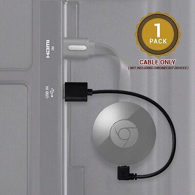 EXINOZ Google Chromecast 15CM CABLE Power Your Chromecast from TV USB Port