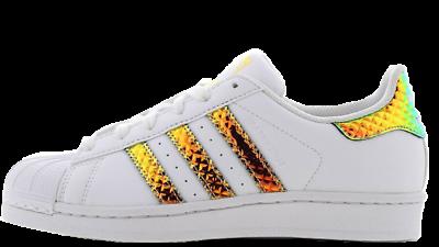 Adidas SUPERSTAR Originals F99726 blanc irisé 3D Neuf Taille UK 5.5 | eBay