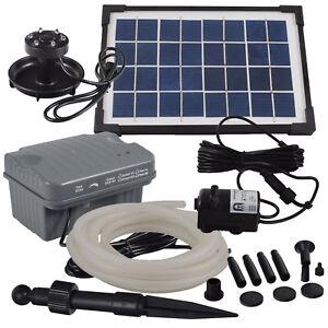 Agora-Tec-Solar-Bachlauf-pumpen-Set-mit-Akku-amp-LED-amp-5m-Schlauch-Wasserfall
