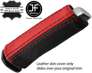RED STITCH REAL LEATHER HANDBRAKE HANDLE COVER FOR VAUXHALL OPEL ADAM 12 18