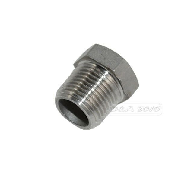 "1/2"" Male x 1/4"" female Stainless Steel thread Reducer Bushing Pipe Fitting NPT"