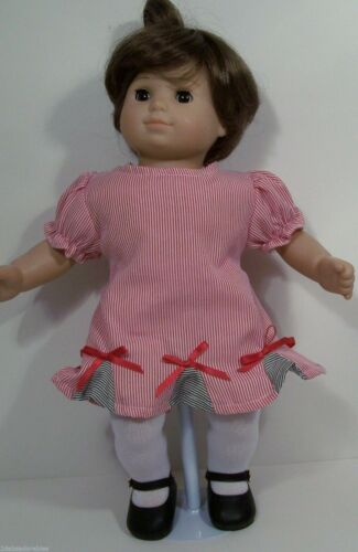 Debs MATCHING Pin Stripe Dress Overall Shorts Doll Clothes For Bitty Baby Twin