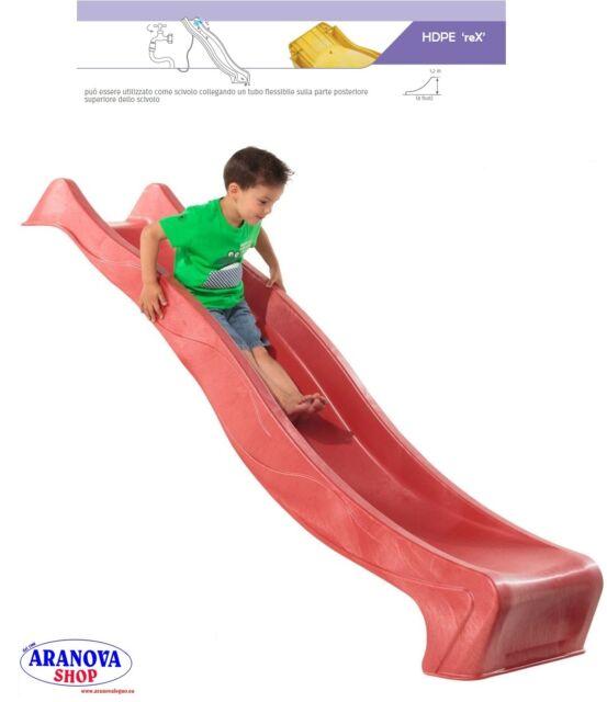 Scivolo per bambini da giardino in HDPE - 'REX' altezza 120 cm rosso