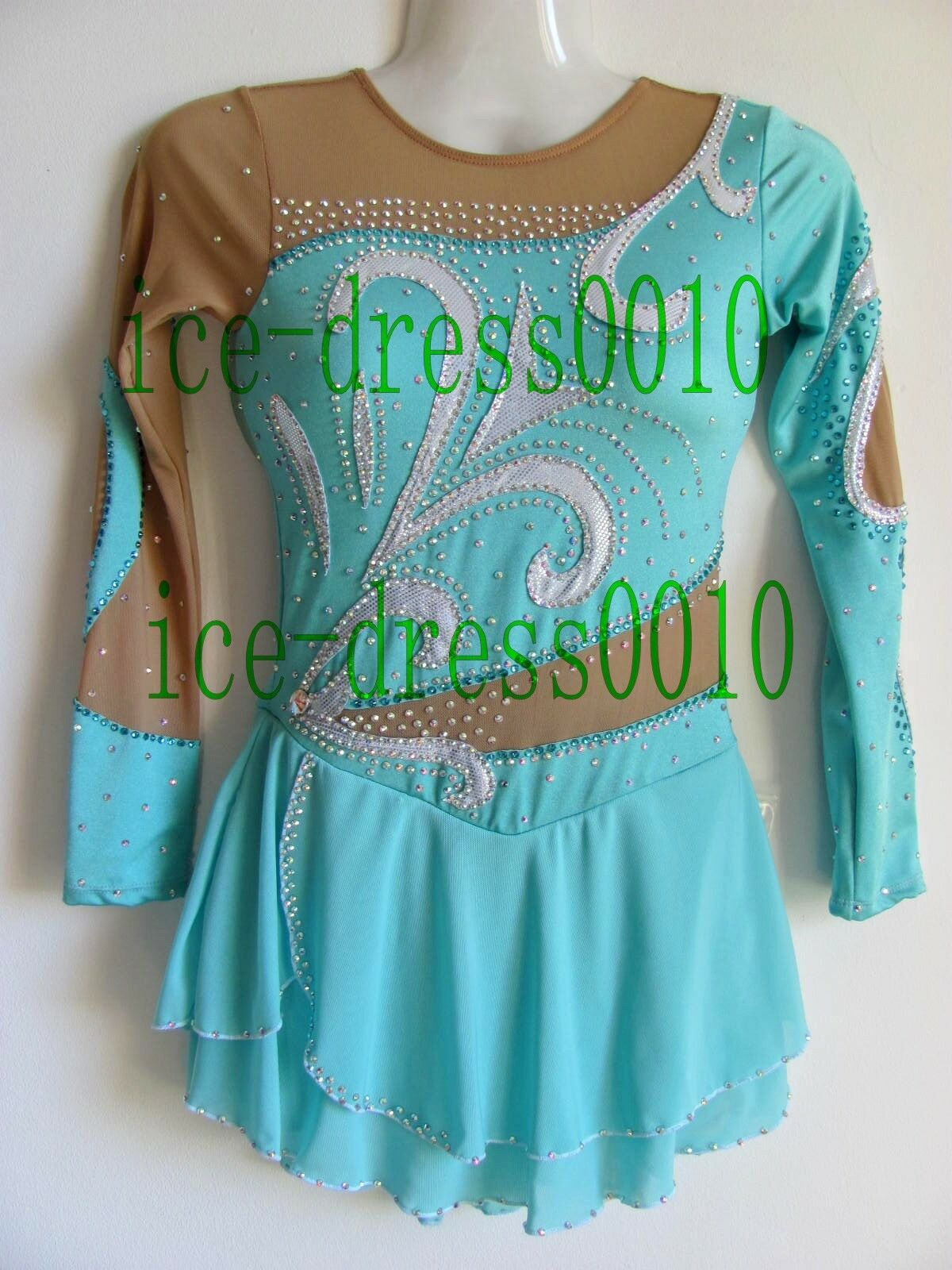 2018 new style Figure Skating Ice Skating Dress Gymnastics Costume 100-7
