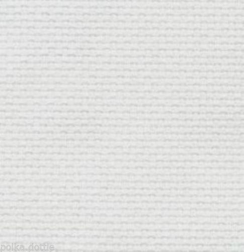 14 cuenta Aida blanca 100/% Algodón Varios Tamaños desde 10 Cm A 100 Cm De Ancho