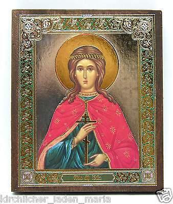 Ikone heilige Dreifaltigkeit икона Святая Троица овальная освящена 6x5x1 cm