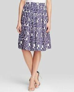 NWT-486-Elizabeth-and-James-Sz-4-Silk-Blue-Floral-Print-Avenue-Skirt