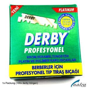 100-Derby-Lames-De-Rasoir-Pour-Rasoir-Remplacables-En-Acier-Inoxydable-Blades
