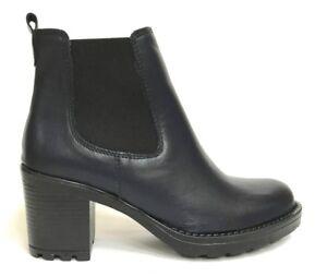 Schuhe Damens PELLE ITALY Schuhe STIVALETTI TACCO 5502 BLU PELLE Damens INVERNO ... 26b4f1