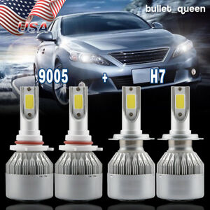 Image Is Loading H7 9005 Led Headlight Bulbs Kit For Mazda