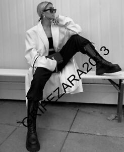 ZARA FLAT LEATHER BOOTS WITH TRACK