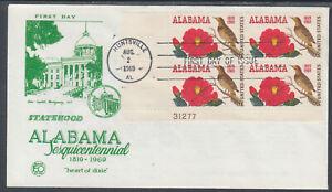US-Planty-1375-14-FDC-1969-Alabama-Statehood-AL-Statehood-Comm-FIRST-CACHET