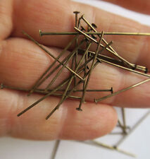 "100 brass Antique Vintage 1"" pin part  to hang Prism for Lamp Chandelier design"