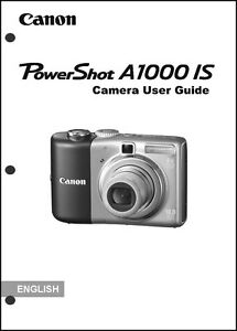 canon powershot a1000 is digital camera user guide instruction rh ebay com canon powershot sd1000 user manual pdf canon powershot sd1000 instruction manual