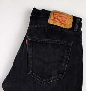 Levi-039-s-Strauss-amp-Co-Hommes-501-Jeans-Jambe-Droite-Taille-W36-L32-AKZ401