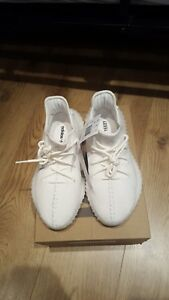 meet 9feb8 58fc9 Details about TRIPLE WHITE YEEZYS. UK SIZE 7. BRAND NEW BOXED.