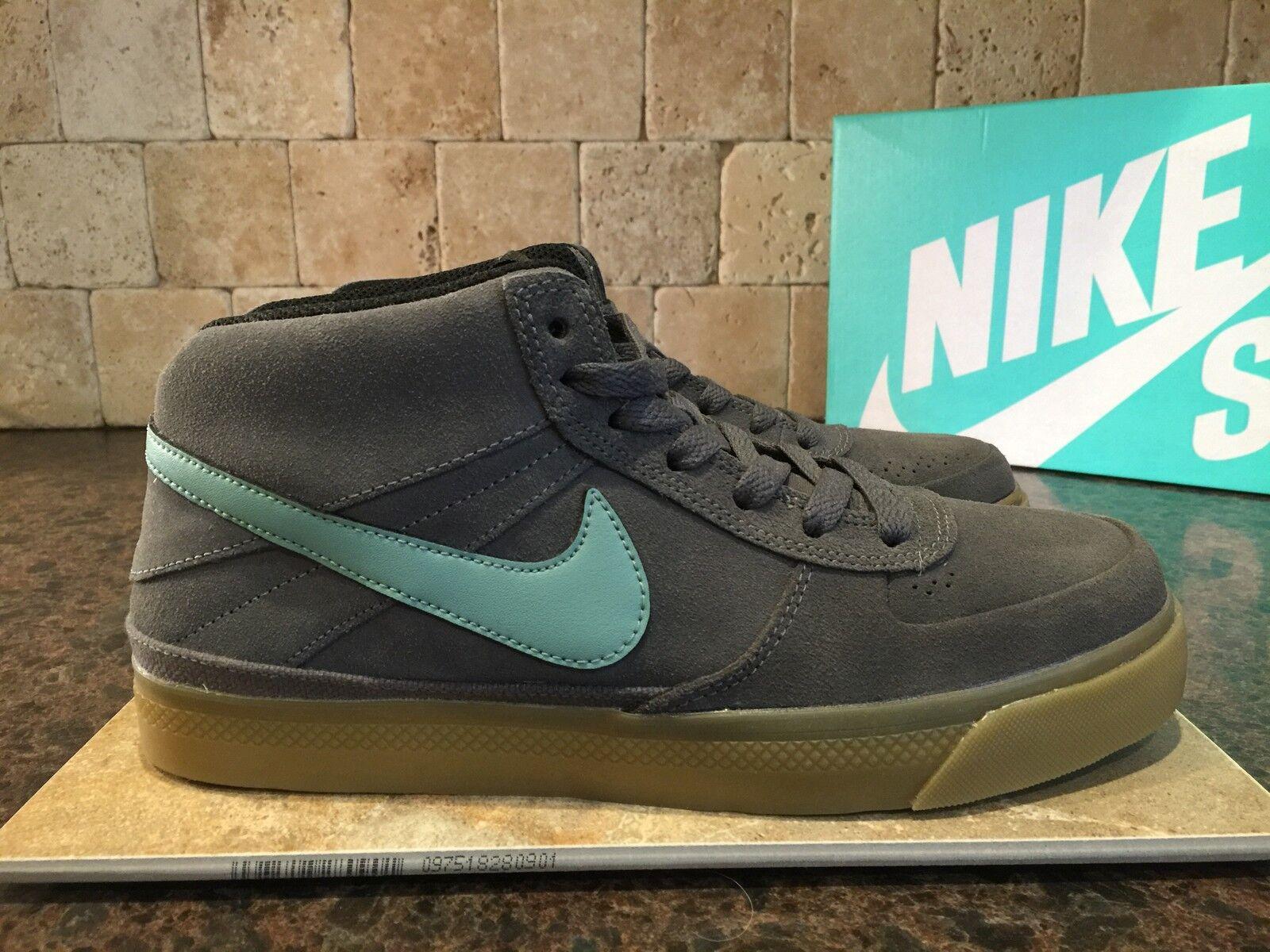 Nike sb mavrick metà ii scarpe uomini sz 8 386611 013 scamosciato 2014 pennino grey