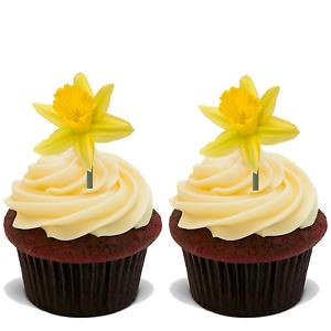 15 Premium de Pâques debout COMESTIBLES RIZ carte Plat Cup Cake Toppers Décoration D23