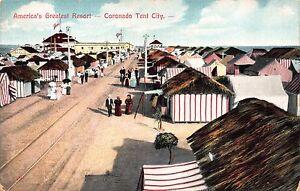 Postcard-Americas-Greatest-Resort-Coronado-Tent-City-San-Diego-California-110782