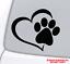 PAW-HEART-Vinyl-Decal-Sticker-Window-Wall-Bumper-Animal-Adopt-Dog-Cat-Love-Pet miniature 1