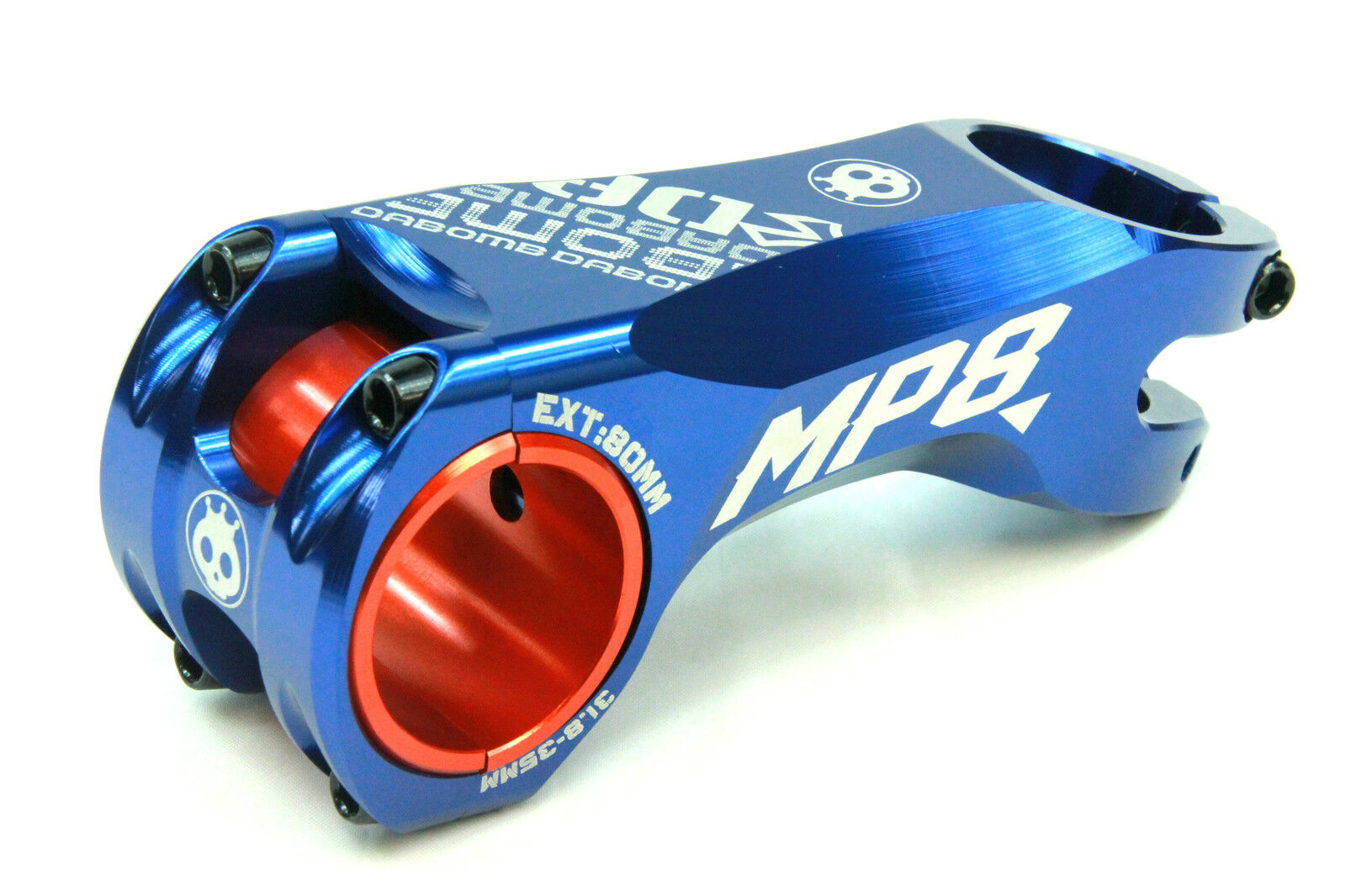 Da Bomb MP8 Stem Schmieded Aluminium - 31.8mm   35mm Clamp Dia.-Ext. 80mm - Blau