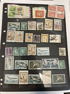 Lot Of Vintage Used Foreign Stamps
