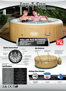 2017 Lay Z Spa Palm Springs Inflatable Portable Hot Tub