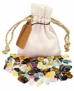 Focus & Concentration Power Pouch Healing Crystals Stones Set Natural Gemstones