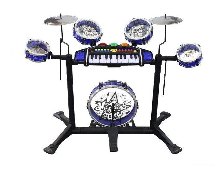 Kinder Baby Spielzeug Schlagzeug + KEYBOARD PIANO Trommel Musikinstrument Stuhl