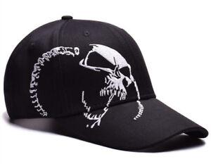 Hot Mens Womens Skull Baseball Hat Hip Hop Adjustable Snapbacks ... ea003d5c097