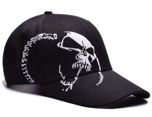 Hot Mens Womens Skull Baseball Hat Hip Hop Adjustable Snapbacks Sport Visor Cap