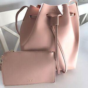 PERSONALISED-MONOGRAMMED-Genuine-Leather-Women-039-s-Bucket-Bag-Handbag-Taupe-Beige
