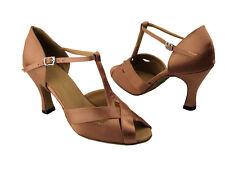 "3/"" Very Fine 16 Silver Salsa Ballroom Latin Satin LeatherDance Shoes 2.5/"""