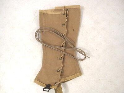 """30/"""" WWII Era US Army Low Quarter Tan Shoe Laces Set MINT Unissued Condition"""