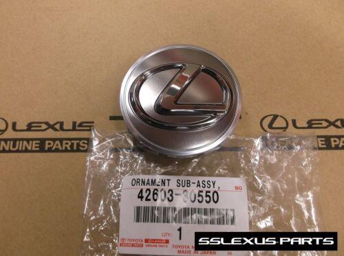 Lexus 42603-30550 x1 2010-2017 OEM Genuine DARK SILVER // GRAY CENTER CAP