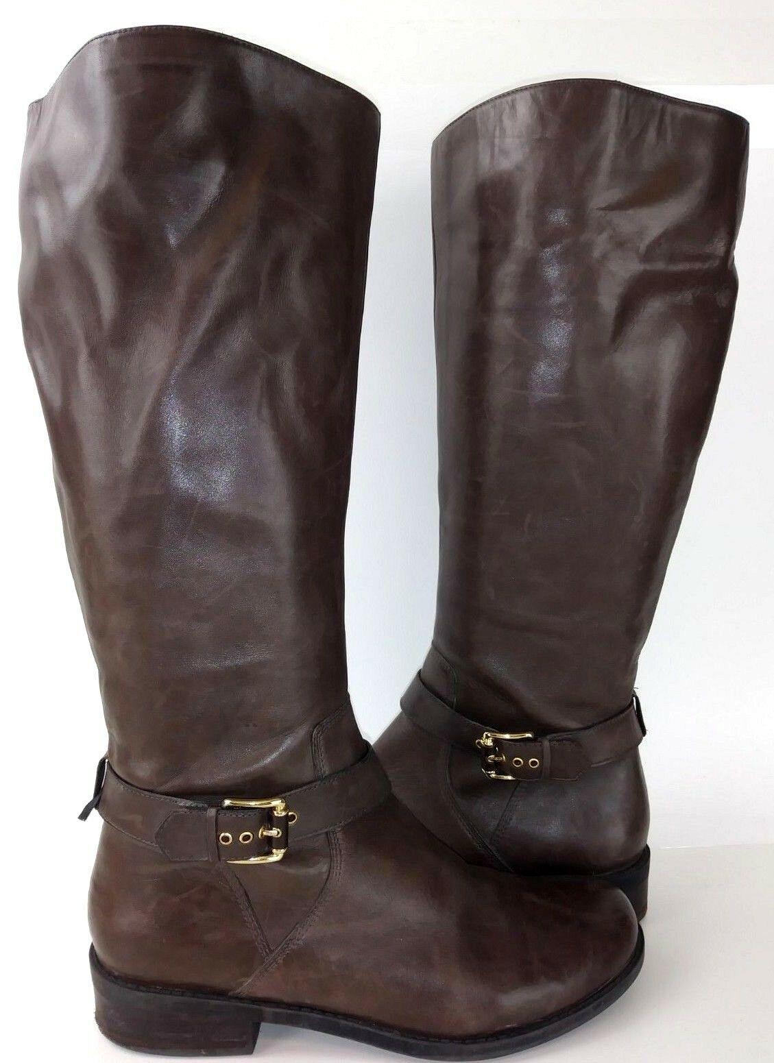 Me Too DEEDEE Womens Boots Tall US 9 M Brown Leather Riding 503
