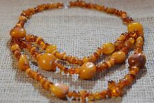 98.1gr.Vintage Natural Butterscotch Egg Yolk BALTIC AMBER NECKLACES